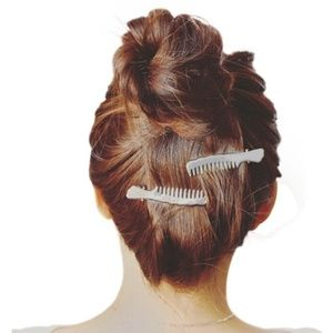4 for $20 Comb Hair Clip - 2pc (Silver)